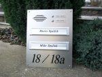 Frontplatten Alu Edelstahl-Look