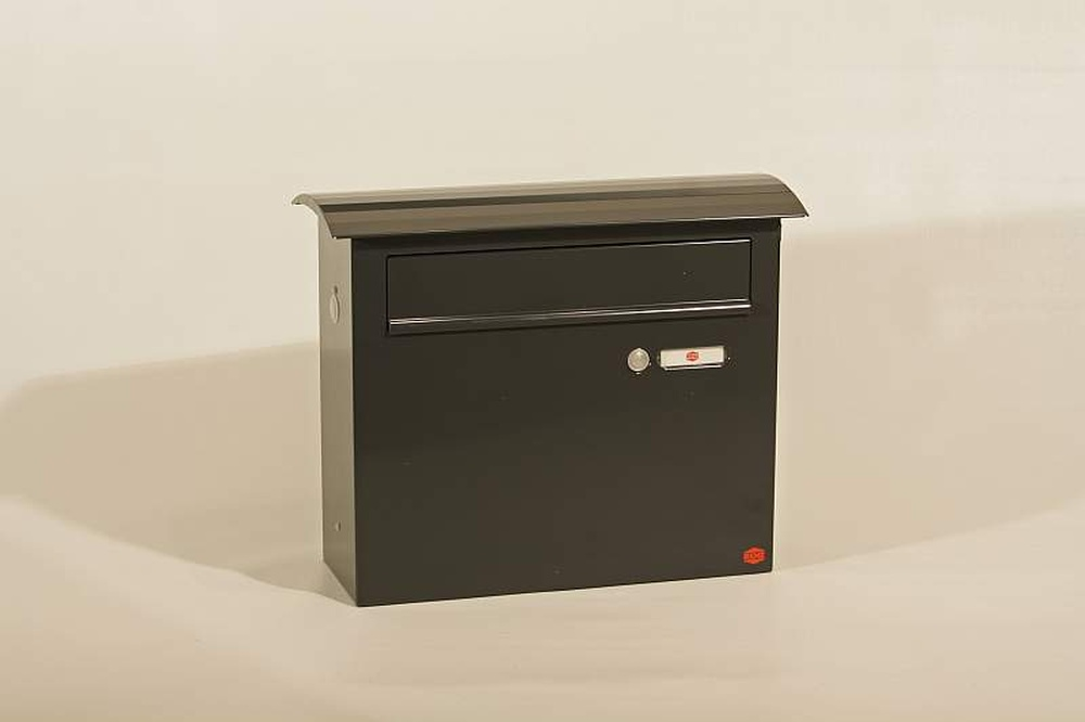 amsico briefkasten renz type ab zaunbriefkasten convex medium mit klingel hoppegartener. Black Bedroom Furniture Sets. Home Design Ideas